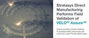 Stratasys旗下3D打印服务机构验证VELO3D的质量跟踪系统