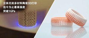 迄今最高:立体光刻3D打印强度超1GPa的氧化铝陶瓷