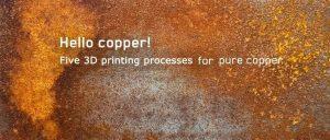 纯铜3D打印工艺的发展:从SLM、3DP、FDM到DLP