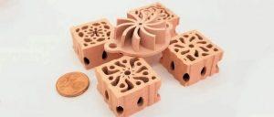 采用FFF熔丝挤出技术3D打印纯铜部件